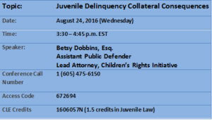 Juvenile Delinquency Collateral Consequences