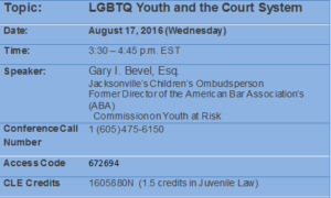 LGBT Youth and the Court System